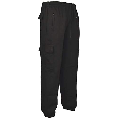 Clothing Unit J1 Mens Cargo Combat Jogging Bottoms Trousers Elasticated Tracksuit Joggers Gym