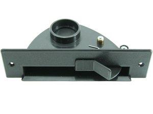 Kehrschaufel Kehrichtklappe für Zentralstaubsauger saugende Kehrschaufel mit Kippmechanik VacPan (Farbe: schwarz) von Microsafe®