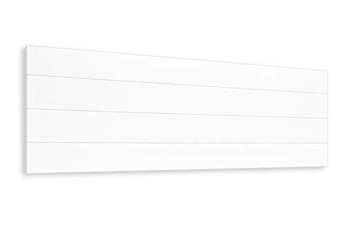 LA WEB DEL COLCHON - Cabecero de Madera Rústico Vintage para Cama de 135 (145 x 44 cms.) Blanco nórdico | Cabeceros Madera | Dormitorio Matrimonio | Cabezal Cama |Estilo nórdico