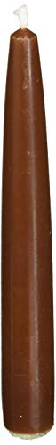 Zest Candle 12-Piece Taper Candles, 6-Inch, Brown