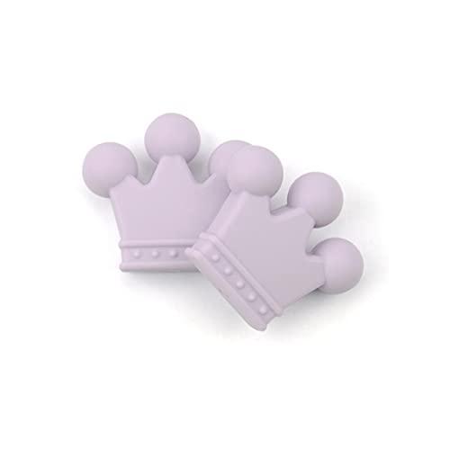 Perline corona in silicone 10 pezzi Perline in silicone per uso alimentare gratuito Collana per dentizione giocattolo da masticare per bambini Creazione di gioielli per infermiere fai da te