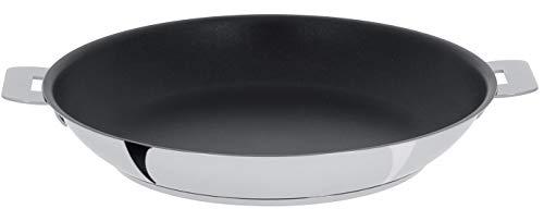Cristel P30QE Excel - Sartén (acero inoxidable, 30 cm, antiadherente), diseño de mutina extraíble