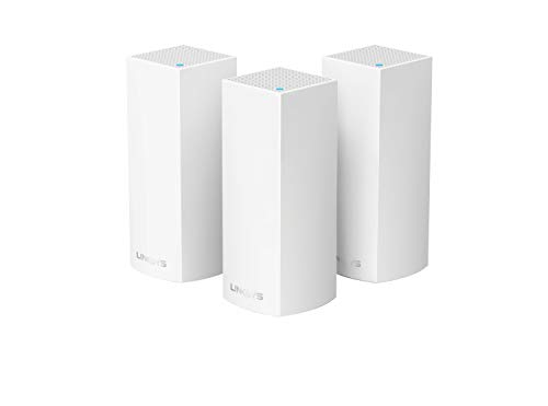 Linksys WHW0303 Velop Mesh Router (Tri-Band Home Mesh WiFi System for Whole-Home WiFi Mesh Network) 3-Pack, White