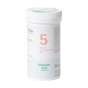 Schussler zout pfluger nr 5 Kalium Phosphoricum D6 400 Tabletten Glutenvrij