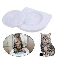 ADEPTNA Cat WC Siège d'entraînement–Bac à litière Support kit pour Animal Domestique Kitty Pot Train Système Herbe à Chat avec Step by Step Guide de Formation