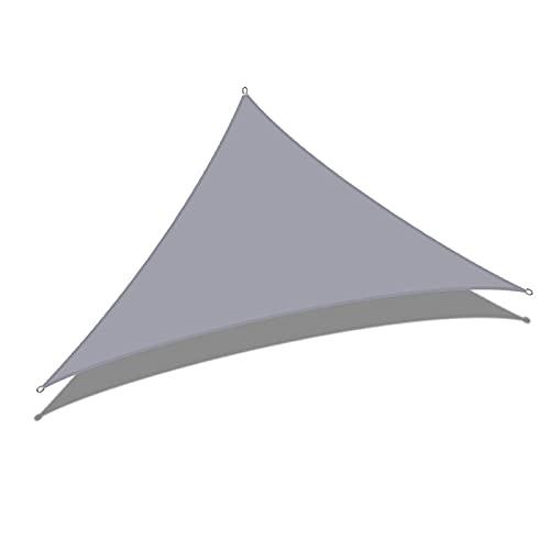 AMSXNOO Vela De Sombra, Impermeable 98% De Bloqueo UV a Prueba De Viento Vela Toldo, Triangular Toldo por Exterior Invernadero Patio Interior Kiosko Balcón Cámping (Color : Gray, Size : 3X4X5M)