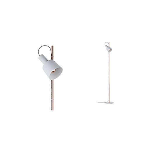 Paulmann 79659 Neordic Haldar golvlampa max. 1 x 20 W golvlampa för E14 lampor vit/koppar matt strålkastare 230 V metall utan glödlampa