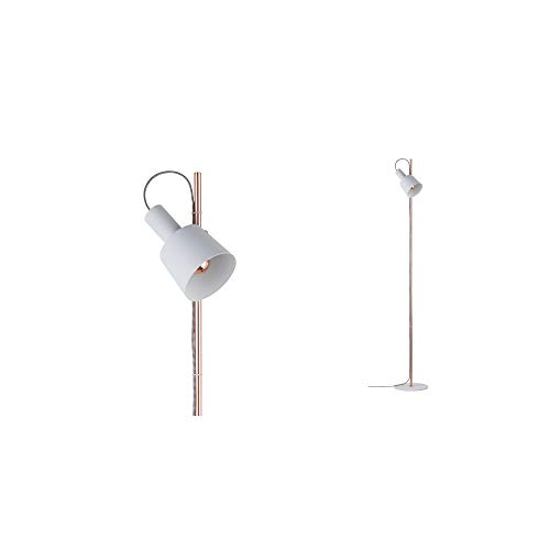 Paulmann 79659 Neordic Haldar Stehleuchte max. 1x20W Stehlampe für E14 Lampen Standleuchte Weiß/Kupfer matt Fluter 230V Metall ohne Leuchtmittel