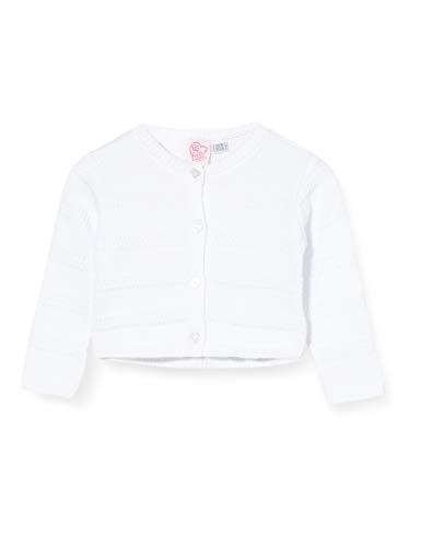 Chicco Baby-Mädchen Cardigan Bimba Strickjacke, Weiß (Bianco 033), 56 (Herstellergröße: 062)