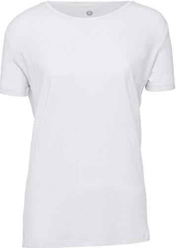 jbs of Denmark T-Shirt Damen Rundhals Ultra Soft Touch und hohe Atmungsaktivität durch Bambus-Baumwoll Gewebe (Ohne Kratzenden Zettel) Schnelltrocknend,Weiß,L