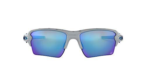 Oakley Men's Flak 2.0 XL Non-Polarized Iridium Rectangular Sunglasses, USA Grey, 59.0 mm