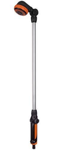 FERM Ducha y rociador de jardín 2 en 1 - Altura Ajustable 149-190cm y Cabezal de Ducha Ajustable 180°