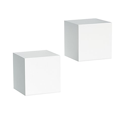 Knape & Vogt Shelf-Made Decorative Wall Cubes, Pair, 5-Inch x 5-Inch, White