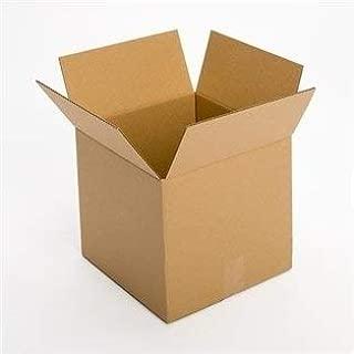 Pratt 10L x 10W x 10D Corrugated Cardboard Box, Cube Box, 32 ECT, Kraft (25 Count)