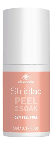 alessandro Striplac Peel or Soak - Feel Free - LED-Nagellack in Apricot - Für perfekte Nägel in 15 Minuten, 5 ml