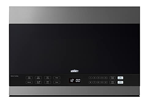 """Summit Appliance MHOTR243SS 24"""" Wide Over-the-Range Microwave, 1.4. cu.ft. Interior, Stainless Steel Trim, Auto Cook, Multi-Stage Cooking, Removable 12.75"""" Glass Turntable, 10 Power Levels"""