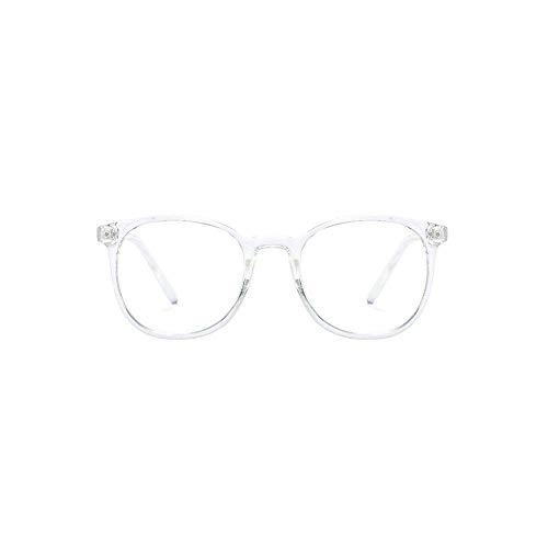 KJG Retro Blaulichtfilter Brille Transparent | Unisex | Lesen PC-Spiele Bildschirm | Schlaffördernd | Schont die Augen | Für den Gebrauch von digitalen Geräten