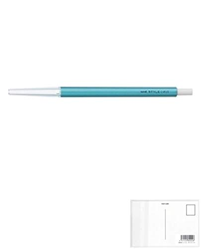 三菱鉛筆 スタイルフィット(STYLE-FIT) 単色ホルダー メタリックブルー UMNH-59 M.33 【 5本】 + 画材屋ドットコム ポストカードA
