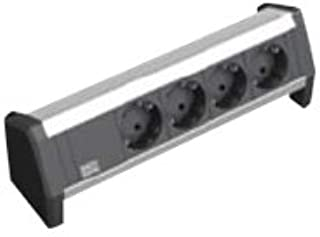 Bachmann DESK - 4xSchuko Power strip Anodized aluminium Power strip, 3