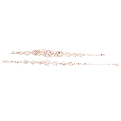2 piezas de moda y popular pulsera colgante en forma de flor exquisita pulsera hueca conjunto de joyas