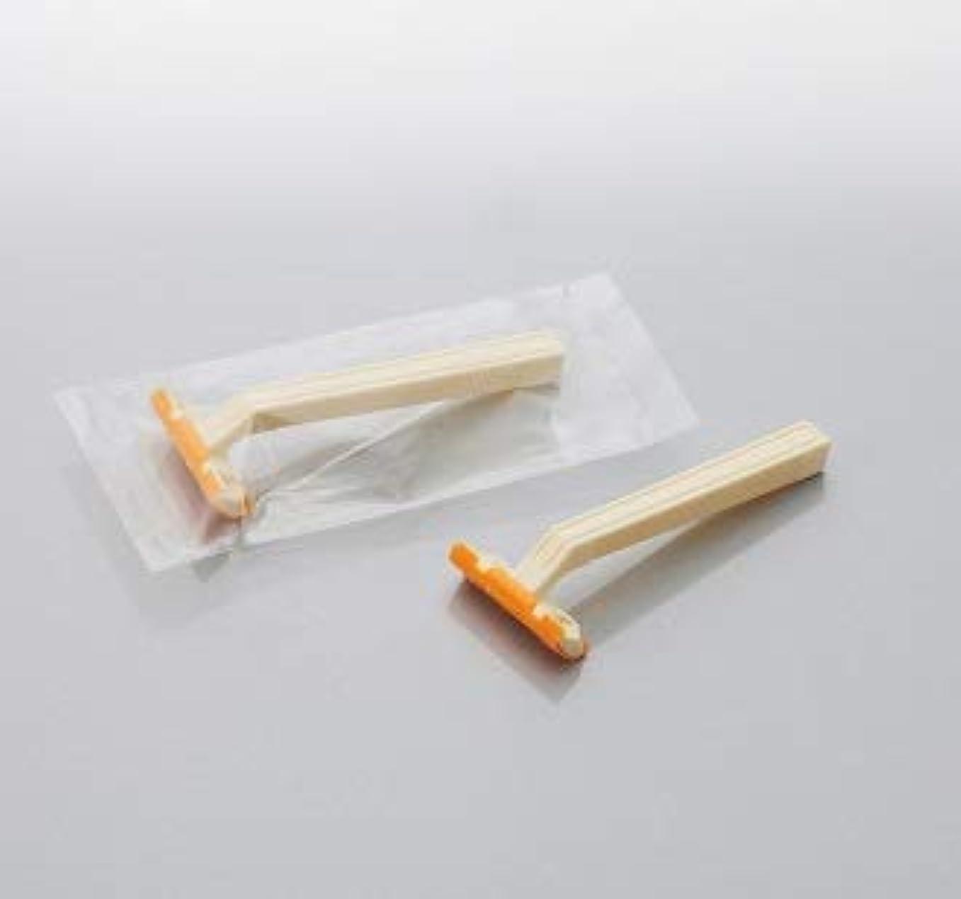 端末いつ風景カミソリ アメニティロード2 固定式2枚刃2000本 透明OP袋入 daito