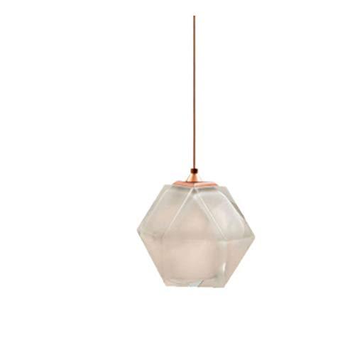 WENY Elegante Bola de Cristal Colgante de la luz de la lámpara de Cocina E14 Vintage Industrial Colgando lámpara lámpara Colgante Ajustable para la Barra de Restaurante (sin Bombilla),Blanco
