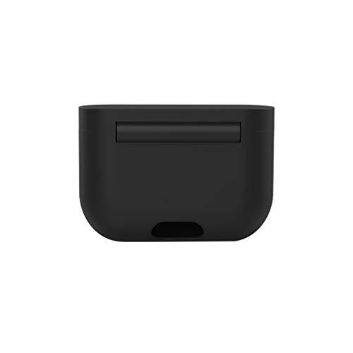 Preisvergleich Produktbild Silikon Hülle Kompatibel mit Sony WF-1000XM3 Kopfhörer,  Nourich kratzfeste Ladegerät Hülle Case Schutz Schutzfolie Schutzhülle Displayschutzfolie Gehäuse Etui Silikonhaut Displayschutz Cover (Schwarz)