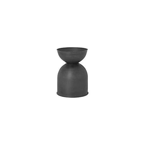 Ferm Living Vaso da Fiori, Metallo, Nero/D. Grigio, 42,5x31x31
