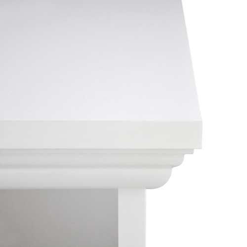 Konsole in weiß mit 2 Ablageflächen und 2 Schubkästen, Griff-Knöpfe in Antik-Optik, umlaufende Profilleiste, Maße: B/H/T ca. 90/75/35 cm - 6