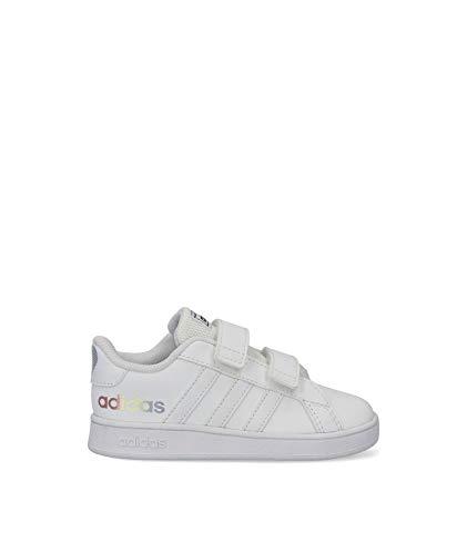 adidas Grand Court I, Zapatillas de Tenis Unisex bebé, FTWBLA/FTWBLA/NEGBÁS, 20 EU