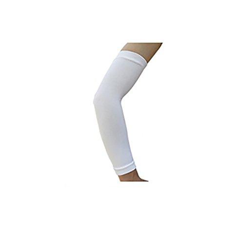 Haodou Basketball Arm Sleeve Ellenbogen-Schoner, Unterarm-Bandage, Power-Shooter Nylon Sportstulpe, Kompressions-Armlinge Länge Ungefähr 33CM (Weiß)