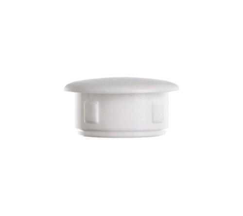 Abdeckstopfen 10x6 mm Weiß | 25 Stück | Blindstopfen Kunststoff Verschlusskappe