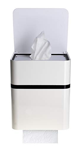 Feuchttuchbox, Feuchttuchhalter mit WC-Rollenhalter, Toilettenpapierhalter, berührungslos, mit Sensor