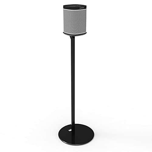 EXIMUS Sonos Fixed Height Speaker Floor Stand for SONOS ONE and SONOS ONE SL and SONOS PLAY:1 - Easy Assembly - BLACK