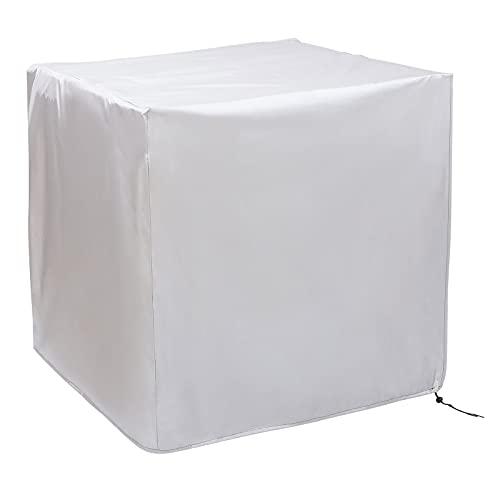 Yardwe Abdeckung für Gartenmöbel, strapazierfähig, wasserfest, quadratisch, Tisch und Stühle, 160 x 160 x 80 cm