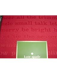 Kate Spade All the Trimmings Cranberry Red Tablecloth 70 Round