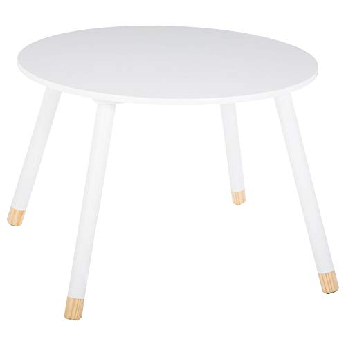 Atmosphera Kids - Mesa infantil suave (60 cm), color blanco