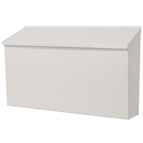 """KYODOLED Wall-Mount Mailbox,Large Capacity Mail Box,Galvanized Steel Rust-Proof Metal Post Box,Mailboxes for Outside,15.75""""x9.44""""x4.72"""" White"""