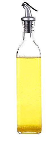 調味料ボトル 酢びん 醤油びん ガラスオイラー オリーブオイルディスペンサー オイルコンテナ キャスター 醤油貯蔵 500ml