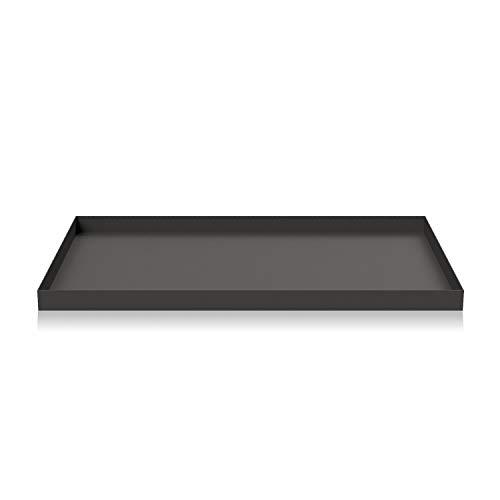 Cooee Design Tray Tablett, Edelstahl, Graphite, L : 39, B: 25, H: 2 cm