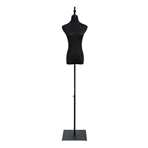 SSZY Maniqui Costura Modista Busto Vestido de Mujer Negro con Forma de...