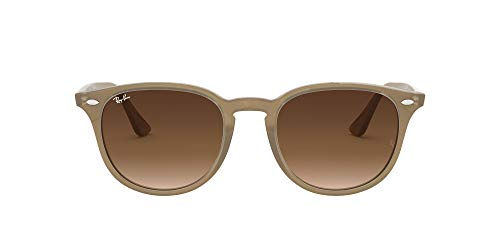 Ray-Ban RB4259 Round Sunglasses, Shiny Opal Beige/Brown Gradient, 51 mm