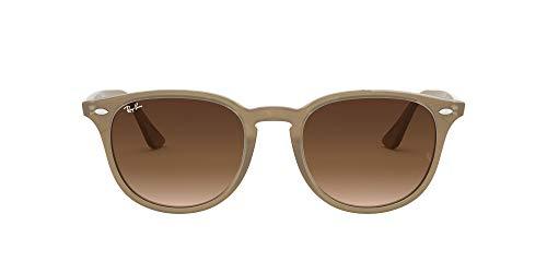 Ray-Ban Unisex-Erwachsene RB4259 Sonnenbrille, Mehrfarbig (Gestell: Opal beige,Gläser: braun verlauf 616613), Medium (Herstellergröße: 51)