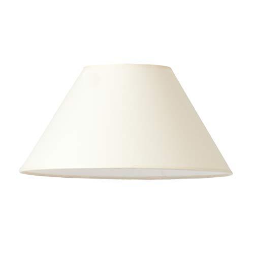 Lampenschirm, rund, in creme von Varia Living | großer Ersatzschirm für Tischleuchte oder als Ersatz für Stehlampe oder Tischlampe | konische Form (creme, Ø 27 cm | Höhe 17 cm)