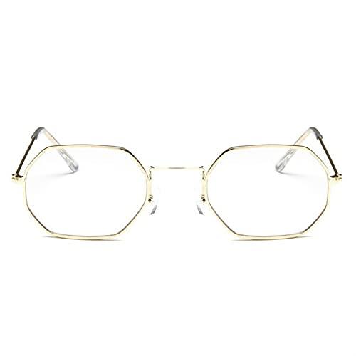 2021 Señoras Hexagonal Sunglasse Metal Metal de la marca Diseñador de la marca Moda Sin llena de monte Océano Lentes de sol Gafas de sol UV400 Sol para caras pequeñas Protección UV baratas Hombres
