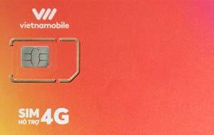 Vietnamobile ベトナム プリペイドSIM 4G・3G 20日利用 データ容量60GB