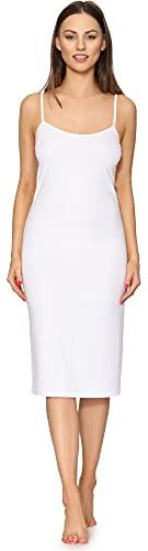 Merry Style Fond de Robe Lingerie Femme MS10-402 (Blanc, S)