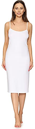 Merry Style Abitino Sottoveste Donna MS10-402 (Bianco, S)
