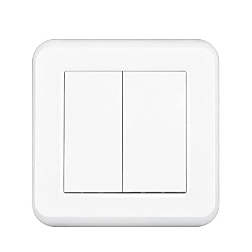 iTight Switch 2GANG 1WAY 16A 250V Nuevo panel de PC retardante de llama blanco 82mm * 82mm Switch de pared UE-blanco