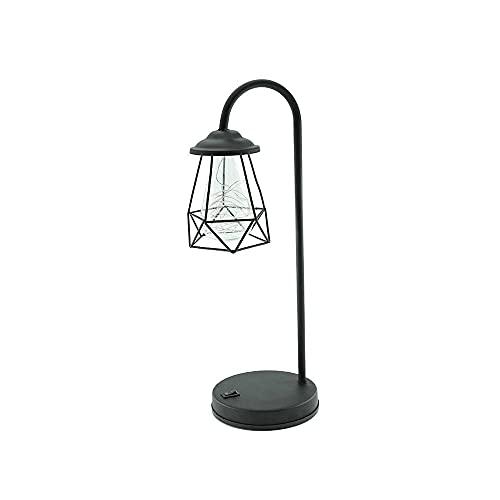 Zoo-yiltd Flexo Led Escritorio DIRIGIÓ Lámpara de Mesa, Forma de Diamante Hueca, lámpara de Dormitorio, lámpara de Mesa de decoración del hogar, lámpara de Mesa pequeña USB, luz de día de Navidad